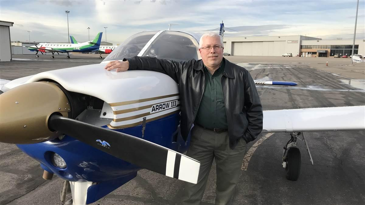 Broadcast engineer Cris Alexander said drones contributed to his motivation to return to general aviation after 25 years in November 2017. Photo courtesy of Cris Alexander.