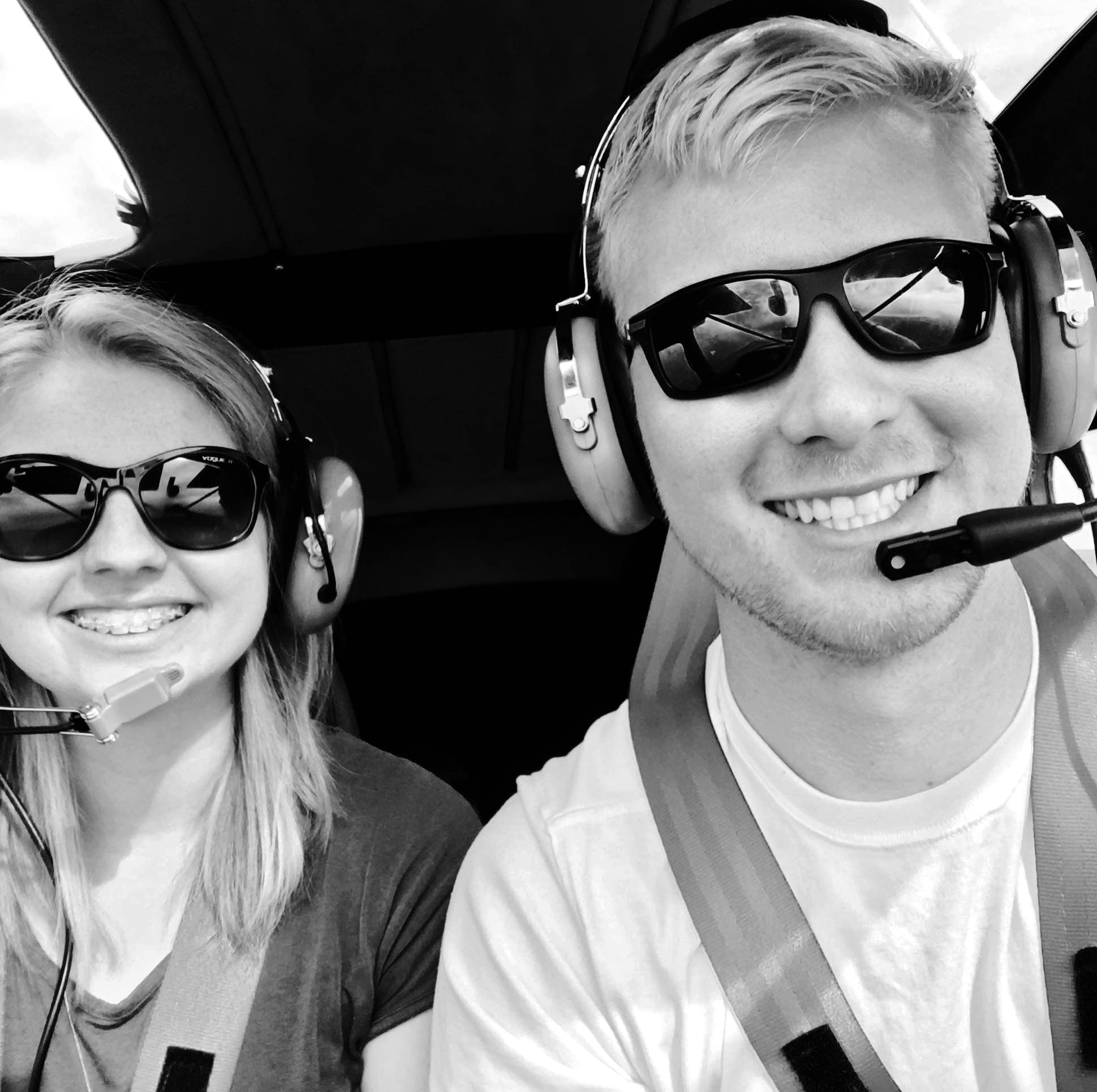 Samantha Sky Hagan and Kyle Fosso hope to fly to all 50 states while producing videos championing the benefit of general aviation. Photo courtesy of Kyle Fosso.
