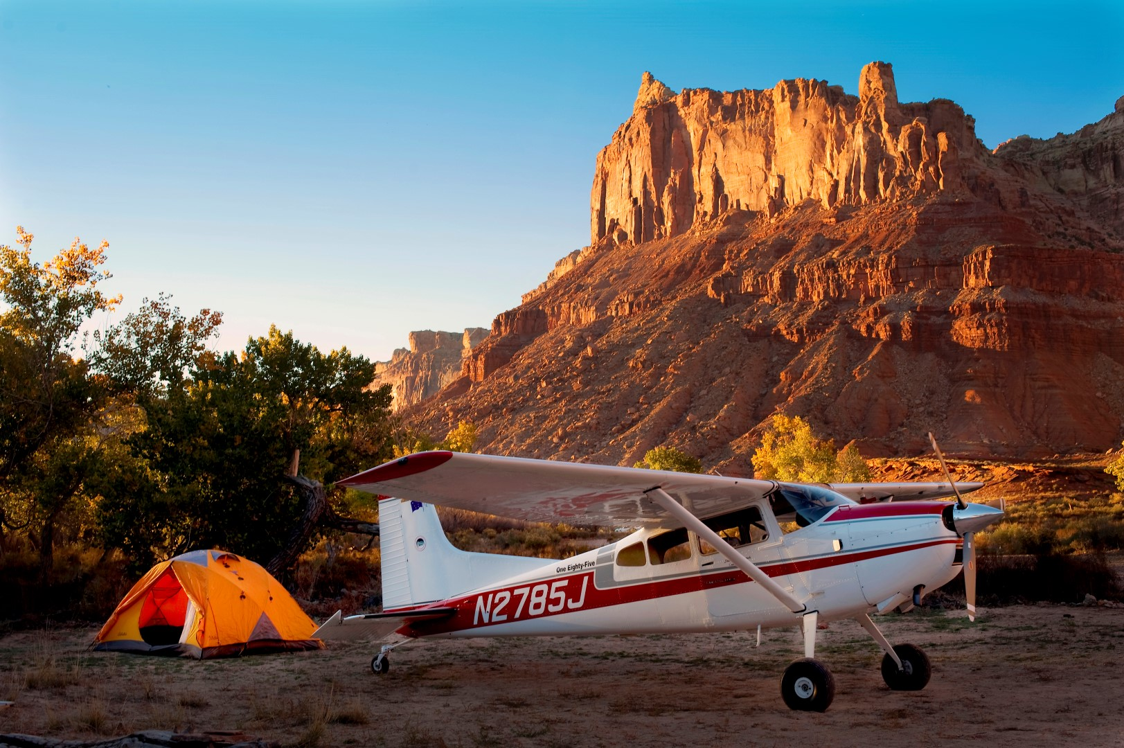 Mexican Mountain. The end of a perfect day in Utah's canyon country. Photo by Steve Durtschi, president of the Utah Back Country Pilots Association.