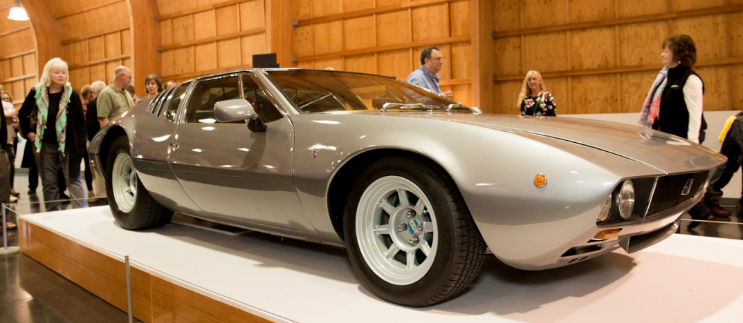 Perched above Tacoma's waterfront, the LeMay—America's Car Museum celebrates America's love affair with the automobile. Washington native Harold LeMay built successful businesses and used his fortune to amass a Guinness World Record collection of more than 3,500 vehicles. Shown here is a rare De Tomaso Mangusta. Photo courtesy America's Car Museum.
