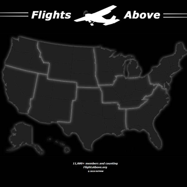 Flights Above the Pacific Northwest has expanded nationally, with Facebook groups that can be accessed through a website, flightsabove.org. Image courtesy of Flights Above.