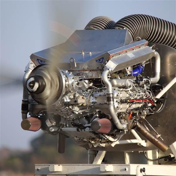 Engineered Propulsion Systems reports certification of the Graflight V8 diesel aircraft engine is taking longer than expected, though progress continues. Photo courtesy of EPS.
