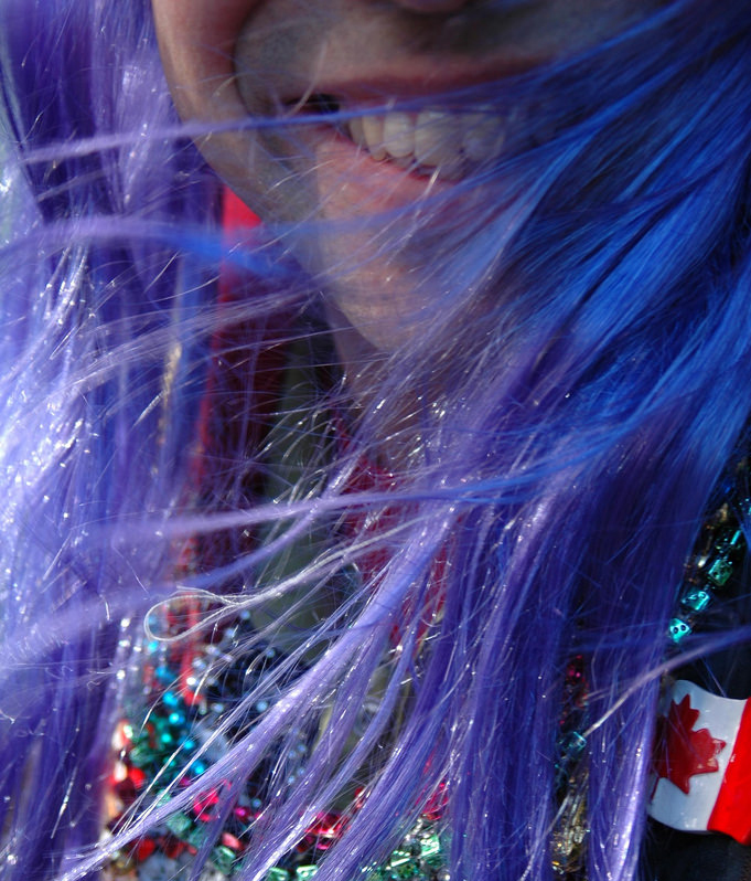 During Mardi Gras, wear any color, so long as it's purple. Photo by Allison Turrell via Flickr.