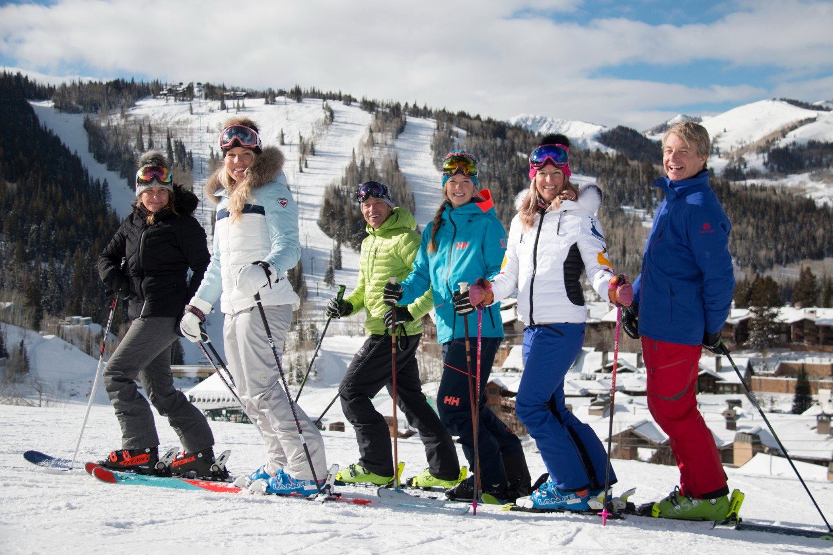 At the Deer Valley Resort near Park City, you can spend a whole or half day skiing with one of these Olympians. Photo by Eric Schramm courtesy Deer Valley Resort.