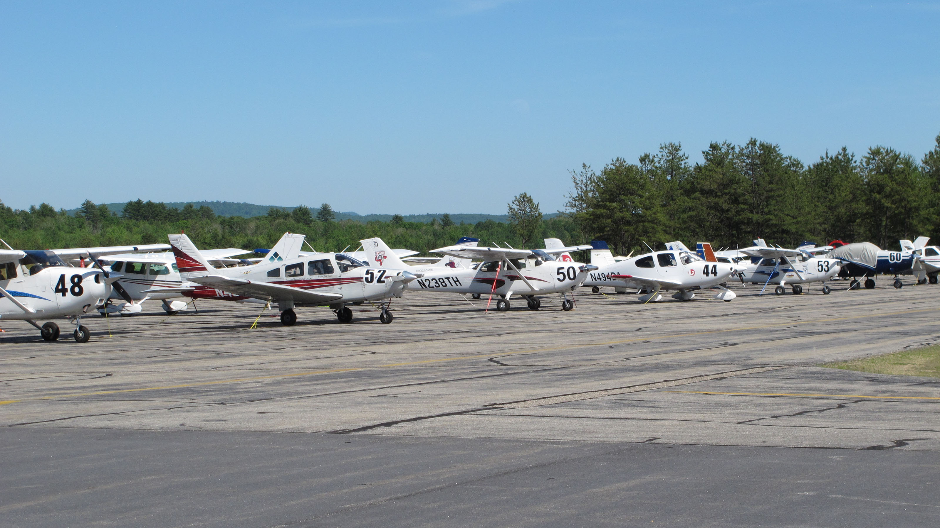Members of the local aviation community who watched the ramp fill up with race airplanes were delighted that Eastern Slope Regional Airport played a major role in the 2018 Air Race Classic. Photo by Dan Namowitz.