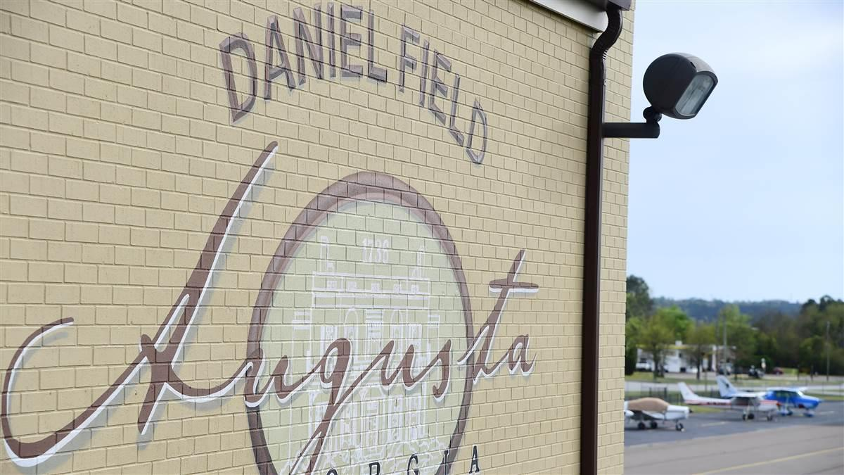 Increased air traffic is expected at Augusta, Georgia's Daniel Field and other general aviation airports in the Augusta area during Masters Week April 1 through 8 when Sergio Garcia defends his Green Jacket and Tiger Woods competes at the Masters for the first time in several years. Photo by David Tulis.