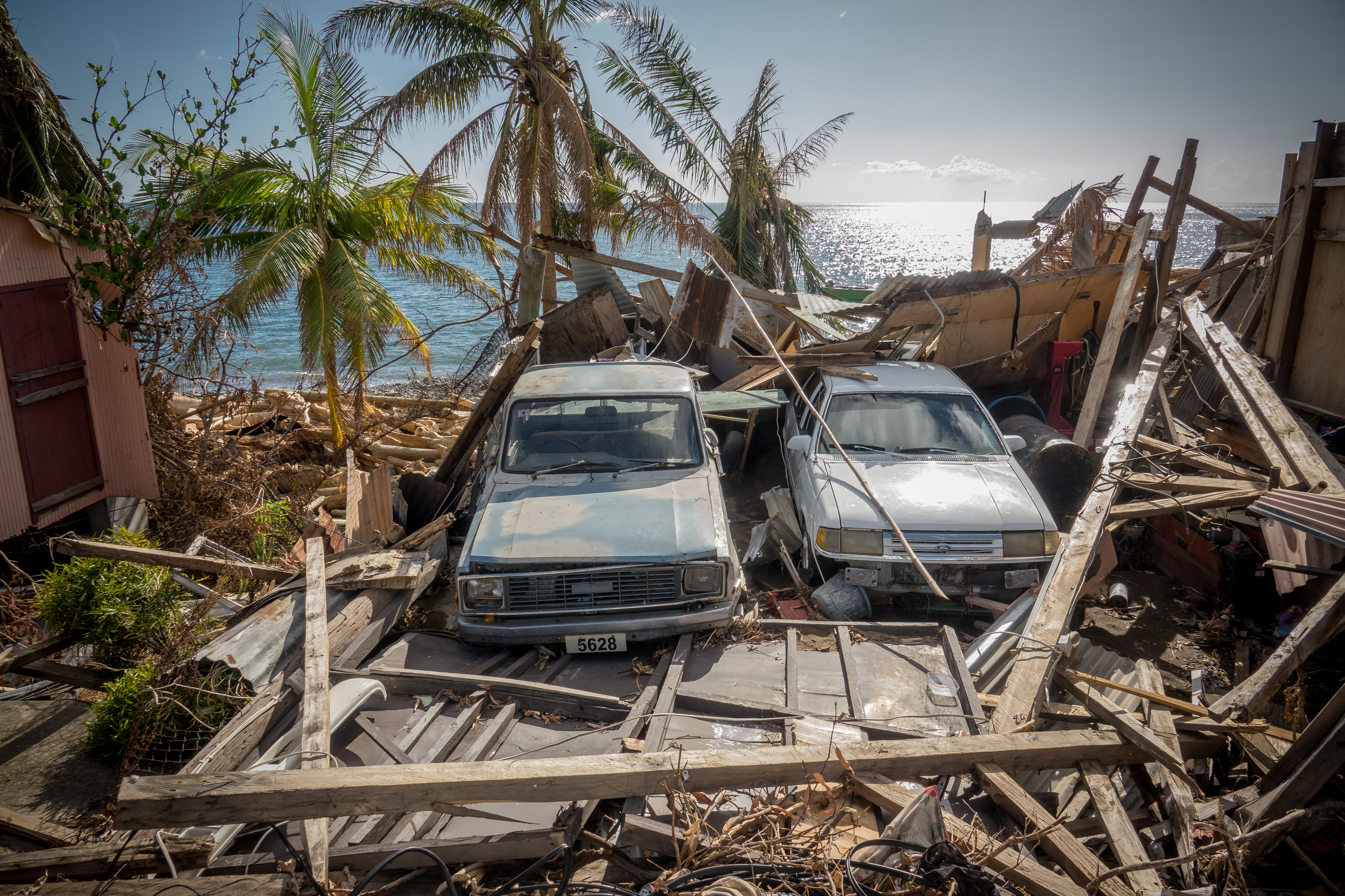 The hurricanes of 2017 devastated Dominica, an island nation in the Caribbean Sea. Photo courtesy of Global Medic.