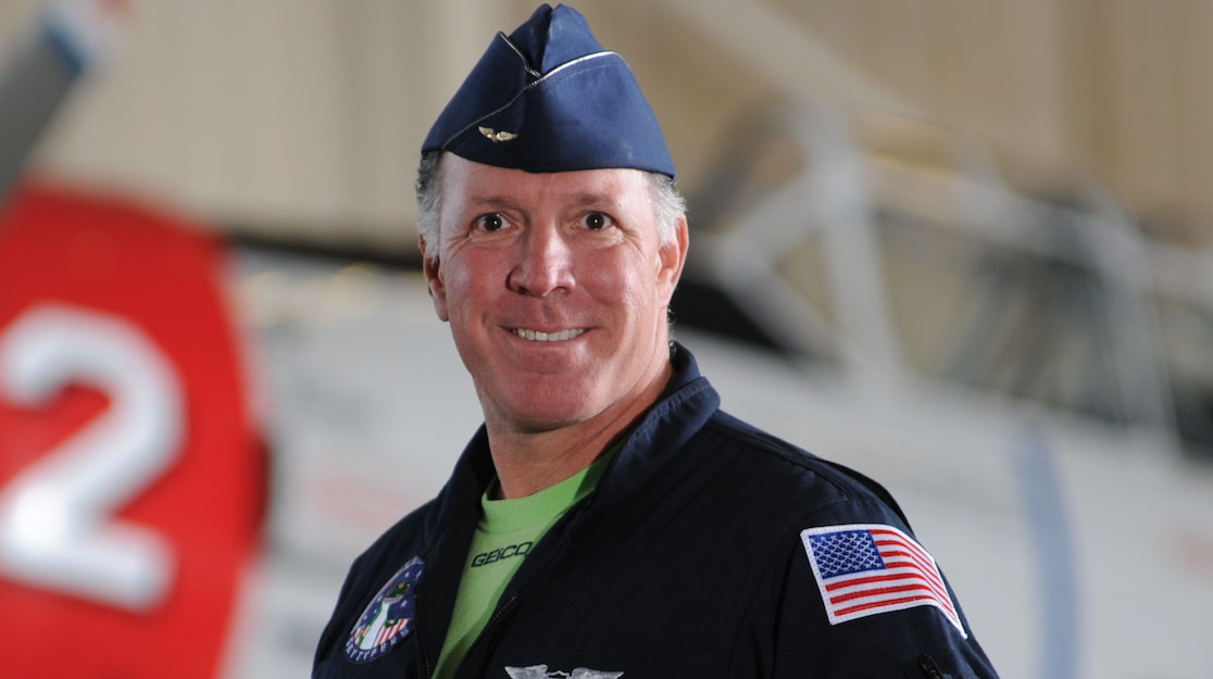 Ken Johansen, a member of the Geico Skytypers Air Show Team for more than a decade, died in the crash of his North American SNJ-2 in Melville, New York, on May 30. Photo courtesy of the Geico Skytypers Air Show Team.