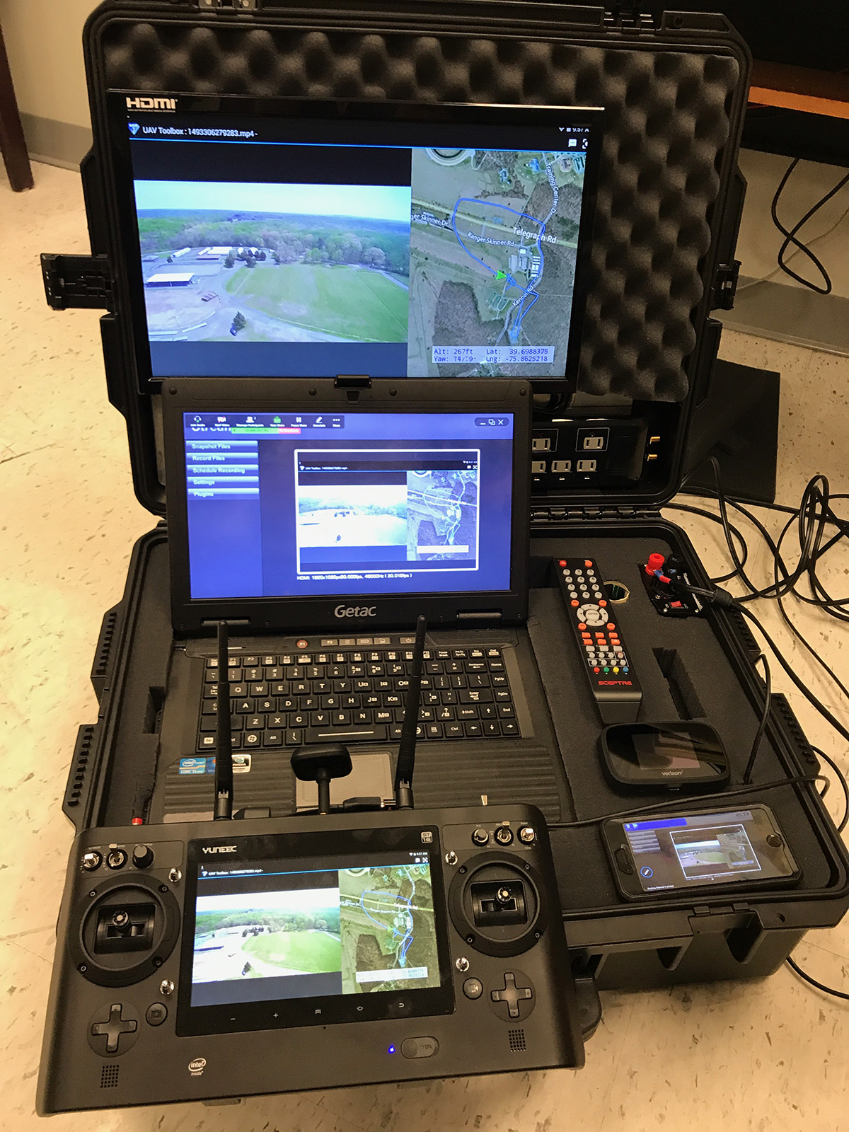A mobile command center allows police drone pilots in Cecil County, Maryland, to control unmanned aircraft and distribute data to other personnel. Photo courtesy of Cecil County Sheriff (Maryland).