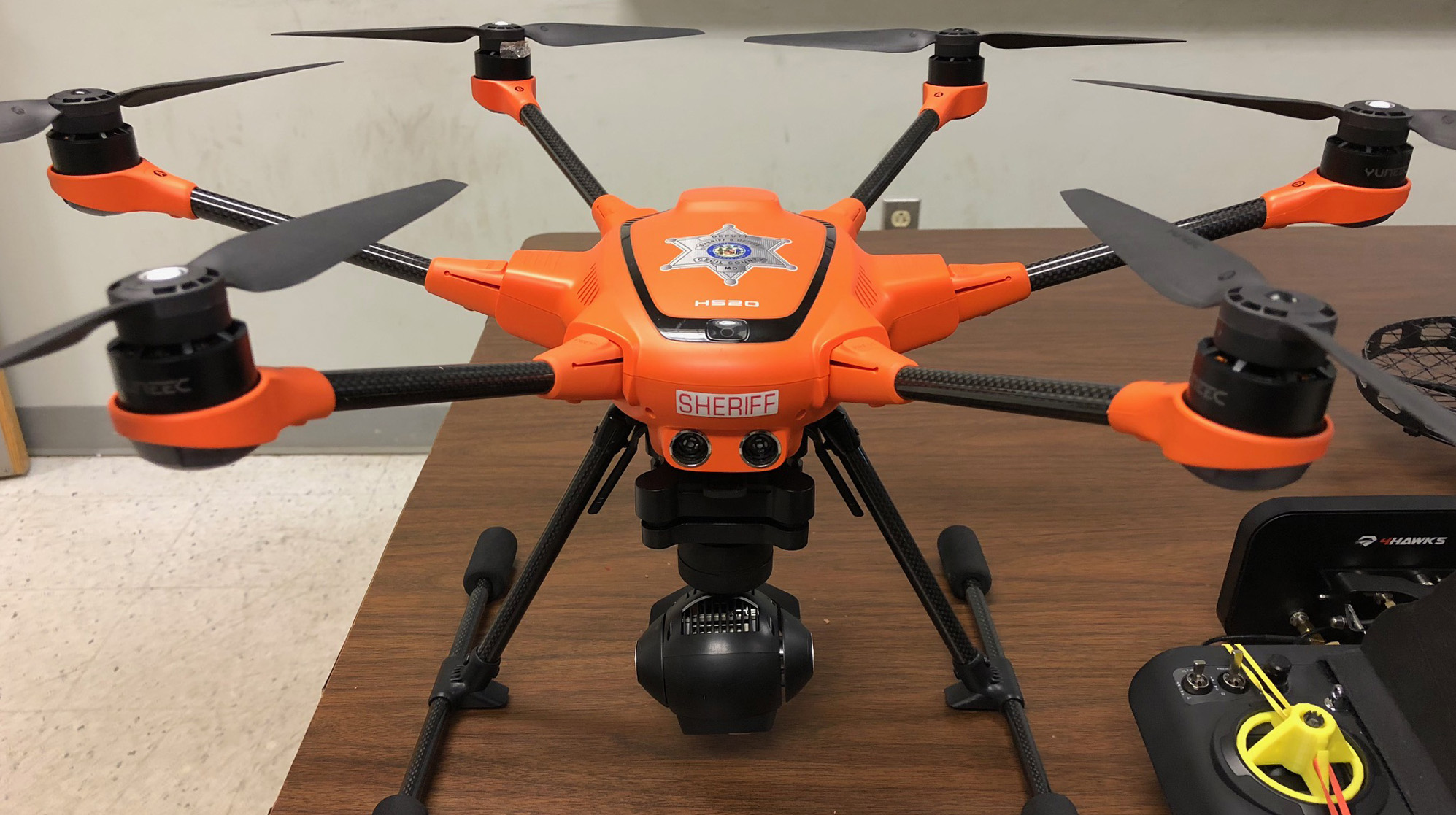 This Yuneec H520 provides both thermal and visible imaging capability. Photo courtesy of Cecil County Sheriff (Maryland).