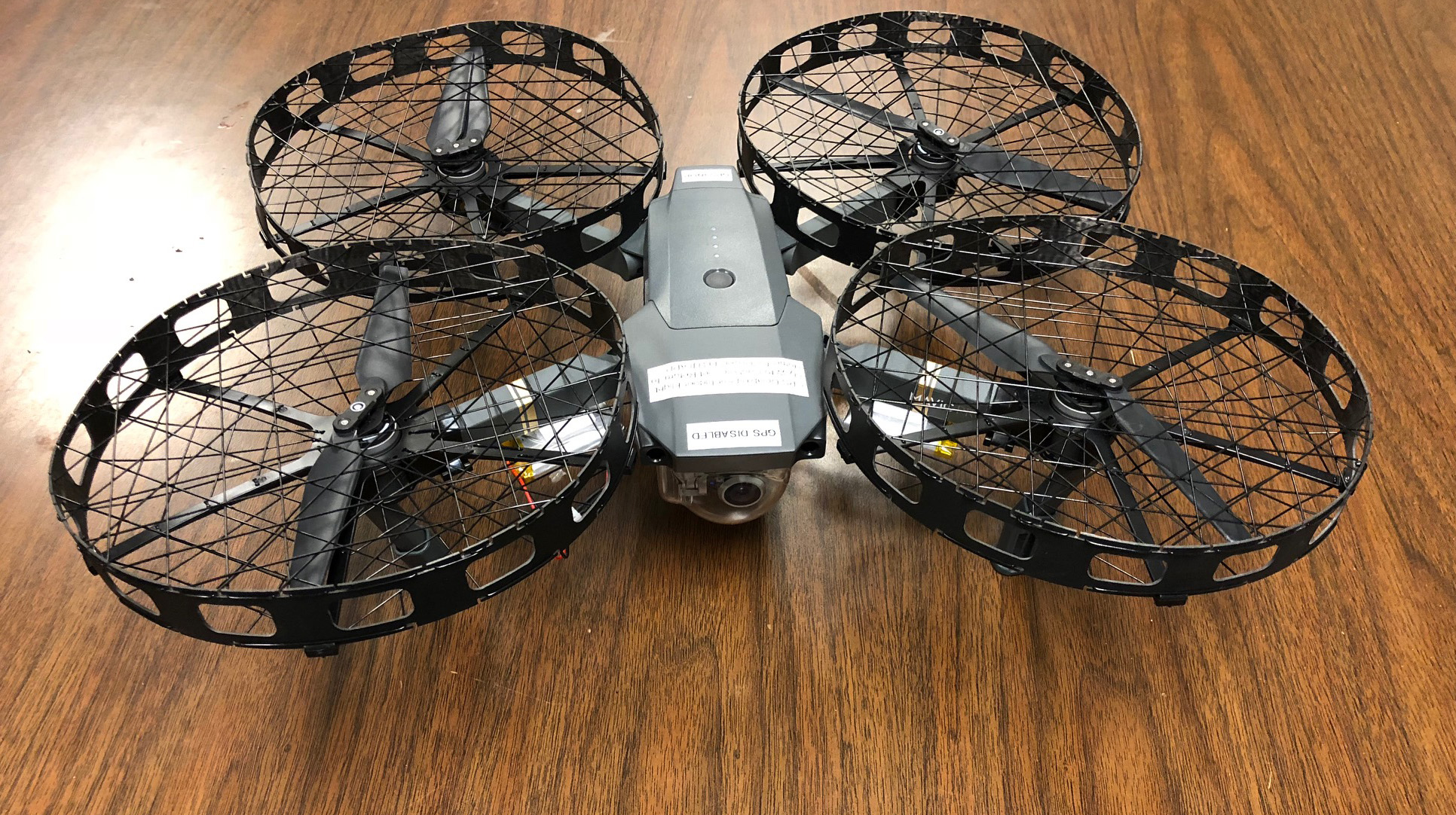 A DJI Mavic fitted with propeller cages for indoor operations. Photo courtesy of Cecil County Sheriff (Maryland).