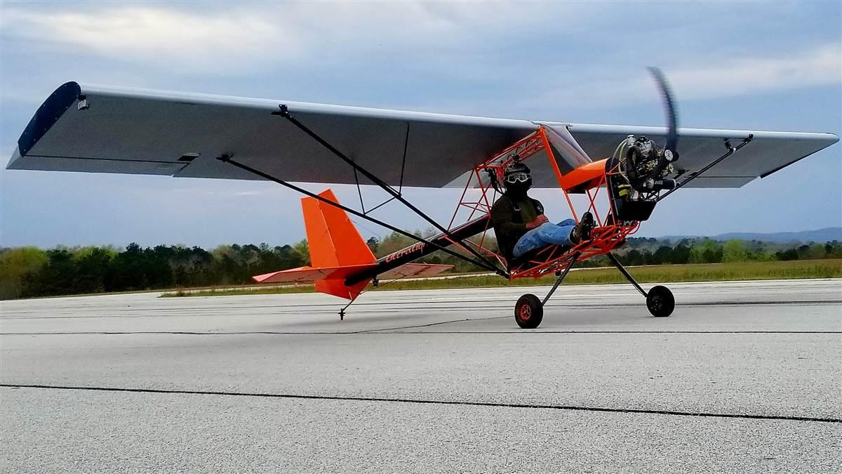 The Just 103 ultralight from Just Aircraft takes a minimalist approach to aviation. Photo by Amy Minnich courtesy of Just Aircraft.