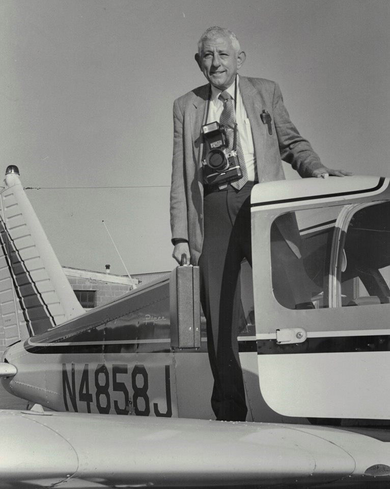 Jack Elliott Schapiro getting ready to go on an assignment in his Piper Arrow. Photo courtesy of Stephen Schapiro.