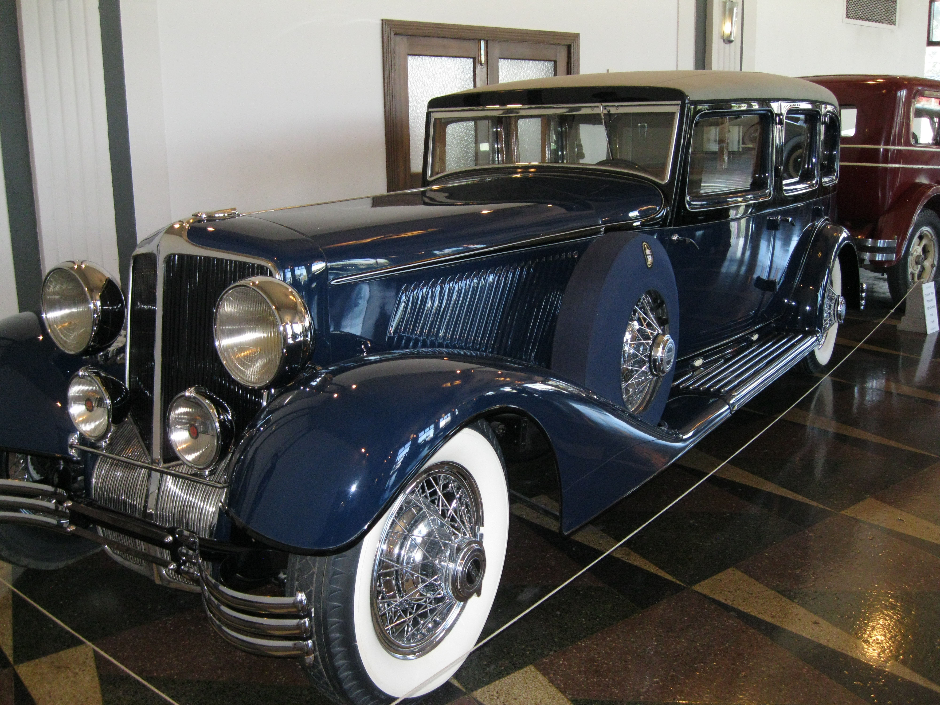 A 1932 Cord is one of the first classics you'll see at the Auburn Cord Duesenberg Automobile Museum in Auburn, Indiana. Photo by Alyssa Cobb.