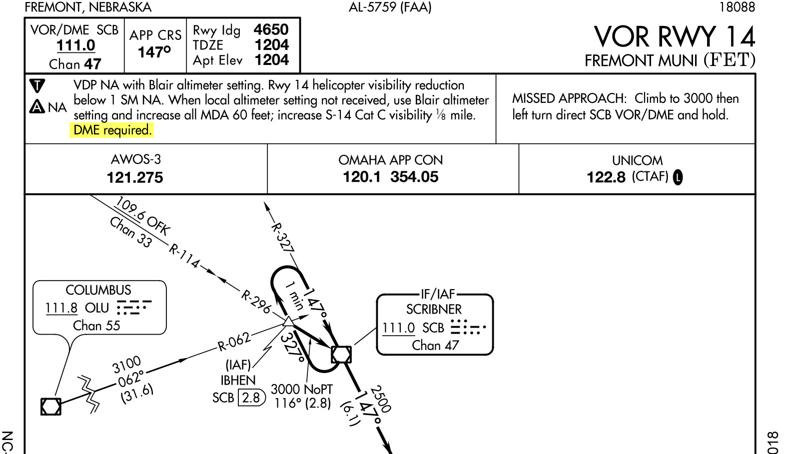 Pilots should give special attention to the notes section of instrument approach plates.