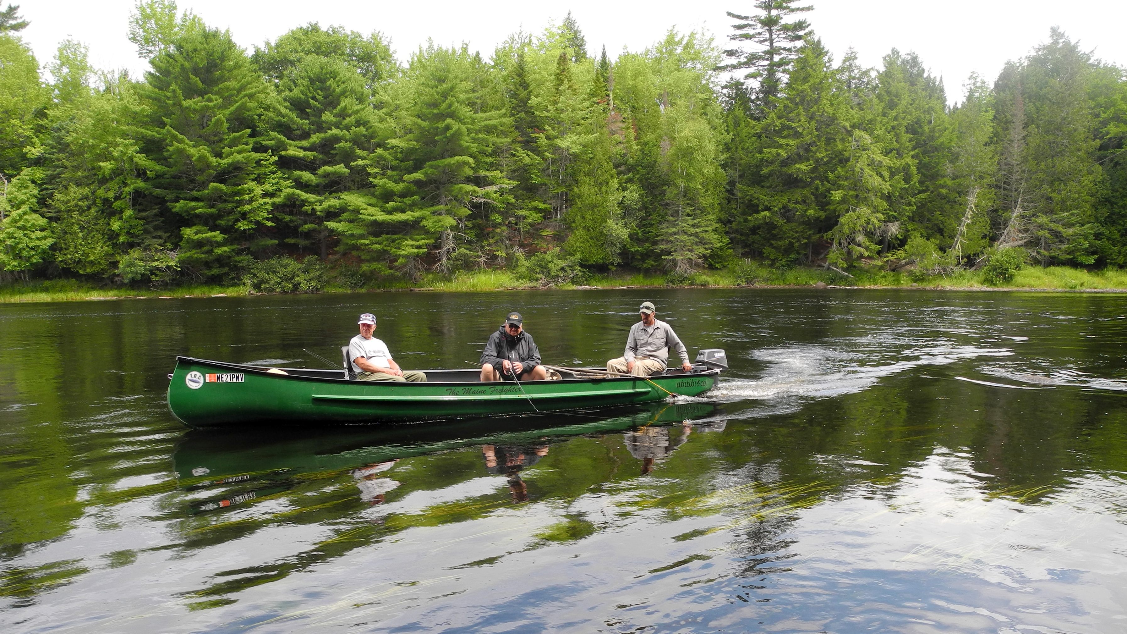 The pristine and tranquil St. Croix River forming the border between Maine and New Brunswick, Canada, teems with smallmouth bass, largemouth bass, pickerel, chub, and other fish. Bald eagle sightings are common.