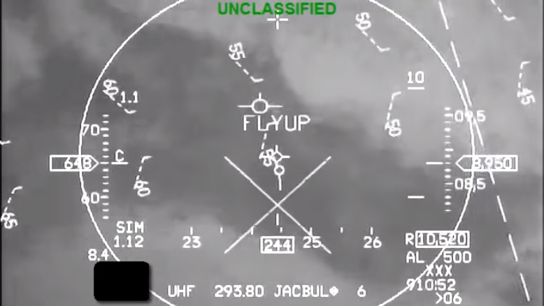 Head-up display of an F-16 with Auto Ground Collision Avoidance Systems. Image courtesy of NASA Armstrong Flight Research Center.