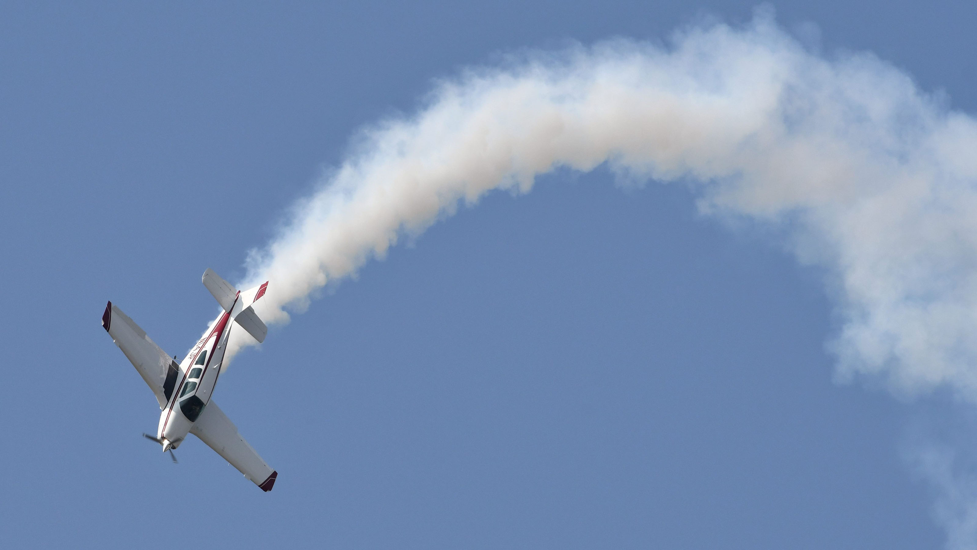 Aerobatics in a Bonanza? Yes, if you're Jim Peitz, shown flying a routine in his Beechcraft F33C Bonanza during EAA AirVenture Oshkosh 2019. Photo by Mike Collins.