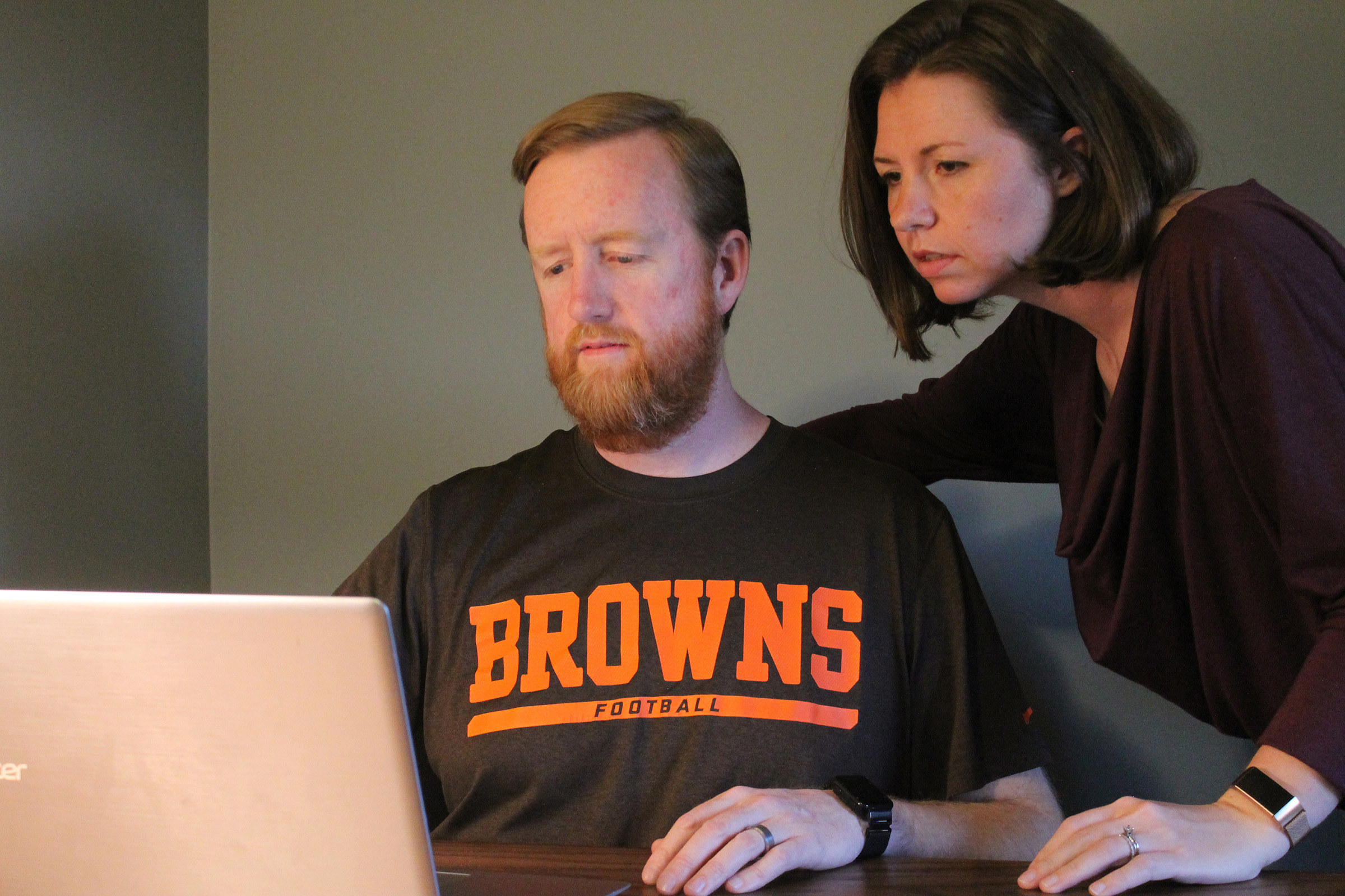 Tom Davis and his wife, Ashley, at home. Photo courtesy of Tom Davis.