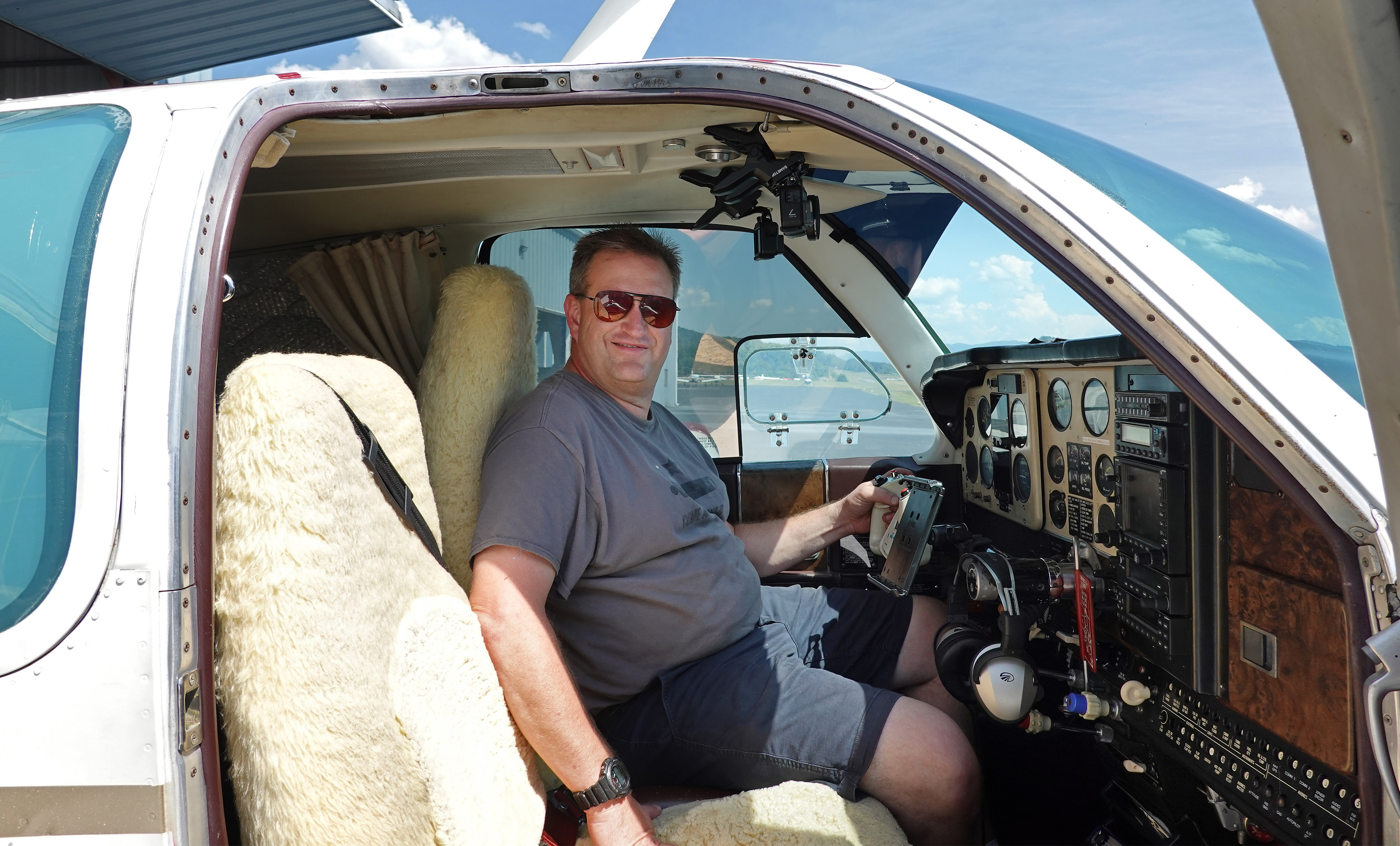 Tennessee pilot Daniel Moore plans to land at 110 airports on Sept. 11 to remember those who died in the 2001 World Trade Center attacks. Photo courtesy of Daniel Moore.