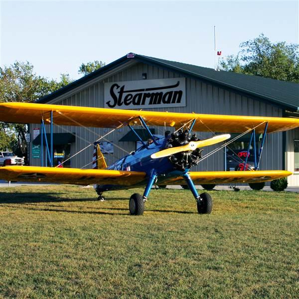 The FBO and restaurant are at the northeast corner of the airport. Photo courtesy of Stearman Field.
