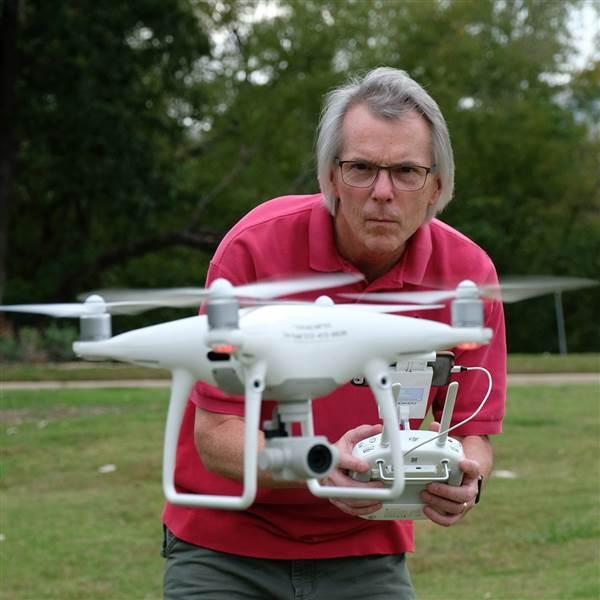 Zach Ryall of Austin, Texas, satisfies his passion for aviation between a Mooney M20E and his DJI Phantom 4 Pro. An instrument-rated private pilot and certificated remote pilot, Ryall retired from a 41-year career as a photojournalist and media manager.