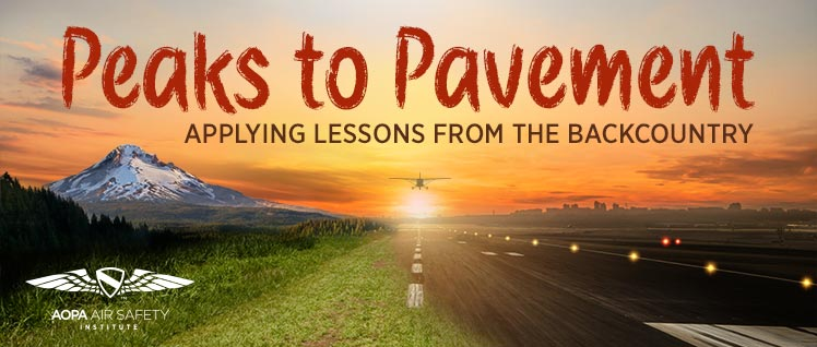 Peaks to Pavement: Applying Lessons from the Backcountry
