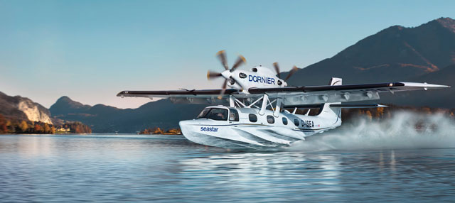 Dornier Seawings has designed the Seastar to operate from land or water, with short-field capability. Photo courtesy of Diamond Aircraft.