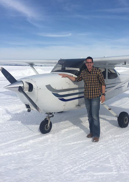 August Haeuser flew his first solo Jan. 25 at Lancaster Airport, thanks in part to airport snow removal crews and the staff of his flight school, Aero-Tech Services, who provided this photo.