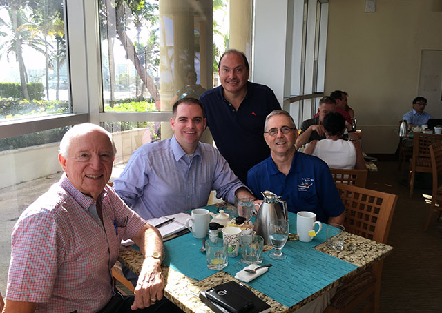 AOPA Director of State Government Affairs Jared Esselman met with the President of the Puerto Rico AeroClub, an FAA Safety representative, and AOPA Airport Support Network volunteers.