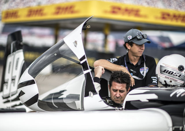 Michael Goulian of the United States prepares for his flight during the training of the eighth stage of the Red Bull Air Race World Championship at the Las Vegas Motor Speedway in October. Photo by Predrag Vuckovic/Red Bull Content Pool