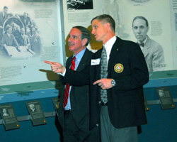 Boyer gets a tour of the museum