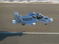 The Terrafugia can run on both high octane auto fuel as well as 100LL