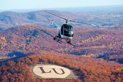 Helicopter flight training at Liberty University