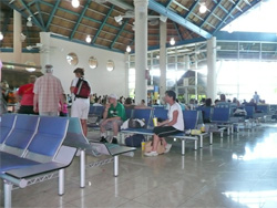View of the Terminal Two departure lounge at Punta Cana International Airport, Dominican Republic