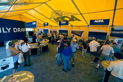 Members visit AOPA's Big Yellow Tent at Sun 'n Fun