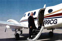 Perdue's flight time was in single-engine piston aircraft before he became governor. He now flies the left seat of the state King Air, saving the cost of a copilot.
