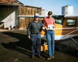 Gebhardt with a Young Eagle flight student. In addition to running the family sawmill and holding office as a state senator, Gebhardt has a small, part-time maintenance shop at Roundup Airport and instructs in his Cessna 150 and a 172.