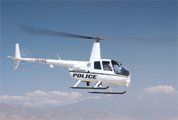 Robinson R44 helicopter used by the San Bernadino Police