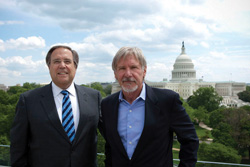 AOPA President Craig Fuller and actor Harrison Ford