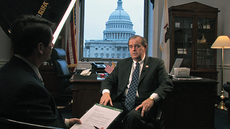 Editor in Chief Thomas B. Haines interviewed Rep. Jerry Costello in the chairman's offices in the Rayburn House Office Building, which overlook the U.S. Capitol.