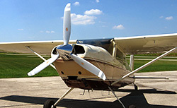 Hartzell Propeller has developed a three-blade Top Prop for Cessna 180, 185, 210, and 205 aircraft.