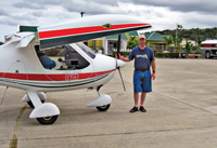 Mike McDonald with his FlightDesign CT at Montego Bay.