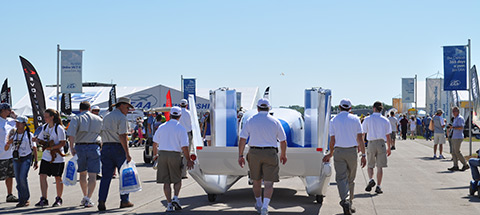 Exhibits increased at this year's AirVenture