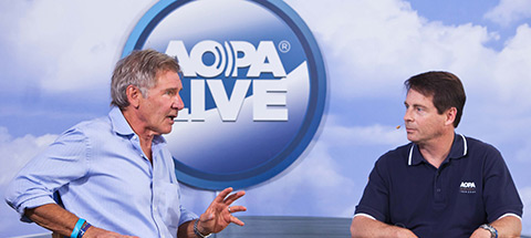 Harrison Ford touts the importance of GA on AOPA Live