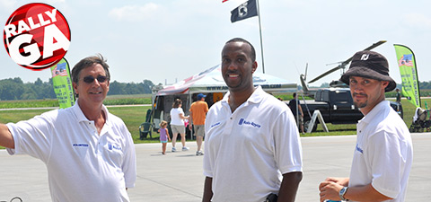 Volunteers provided information and fun for fly-in attendees.