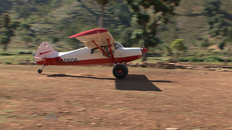 A Maule lands at the 1,500-foot airstrip that volunteers hacked out of the rocky terrain to provide access to a remote Haitian village.