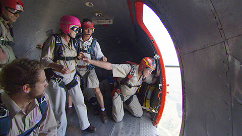 Parachute drops from a C-47 kicked off a mission to provide help to a remote Haitian village.