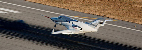 First conforming HondaJet test aircraft