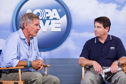 Actor and general aviation activist Harrison Ford spoke about his passion for aviation on AOPA Live with 'AOPA Pilot' Editor in Chief Tom Haines.